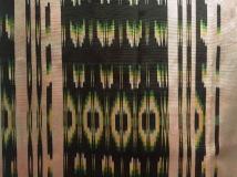 Contemporary silk ikat shawl by Arturo Estrada (Mexico)