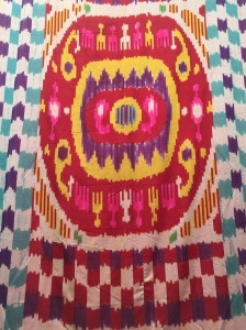 Contemporary silk and cotton ikat (Tajikistan)